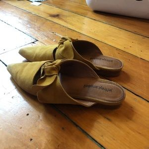 Jeffrey Campbell Yellow Suede Flats